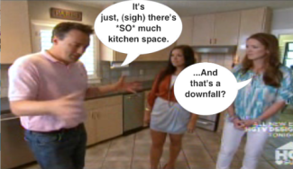 Awful man on House Hunters complains about too much kitchen space