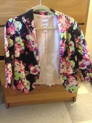 Black floral jacket from Candies', Kohl's
