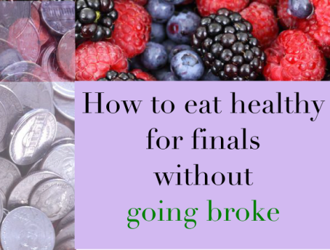 how to eat healthy for finals without going broke