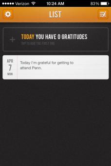 Gratitude Journal List