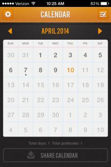 Gratitude 365 Calendar