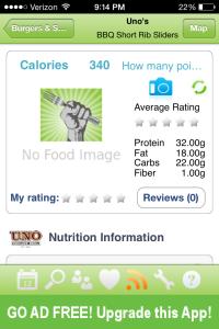 Restaurant Nutrition Calorie Count