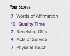 Five Love Languages Scores