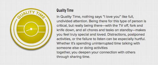 Love Language Quality Time