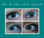How to wear white eyeliner