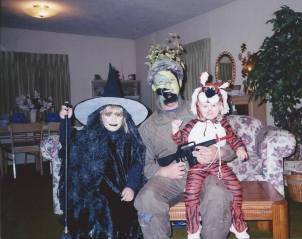 The Family on Halloween