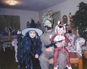 The Family on Halloween