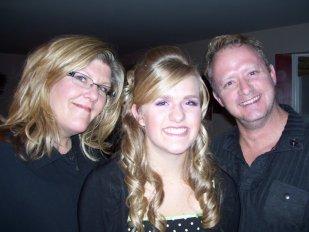Dad, Mom and I at Football Ball
