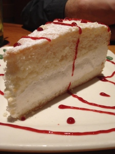 Olive Garden Lemon Creme Cake with Raspberry Syrup