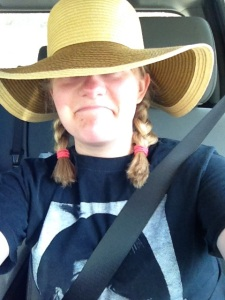 Taylor In Pigtails and Sun Hat
