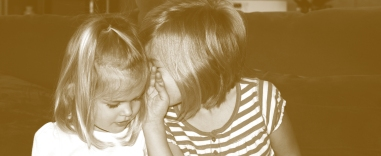 Children telling secrets