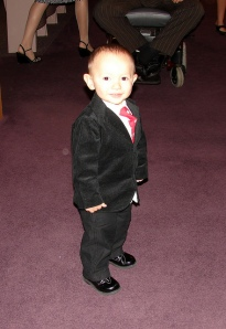 Adorable Kid in Suit