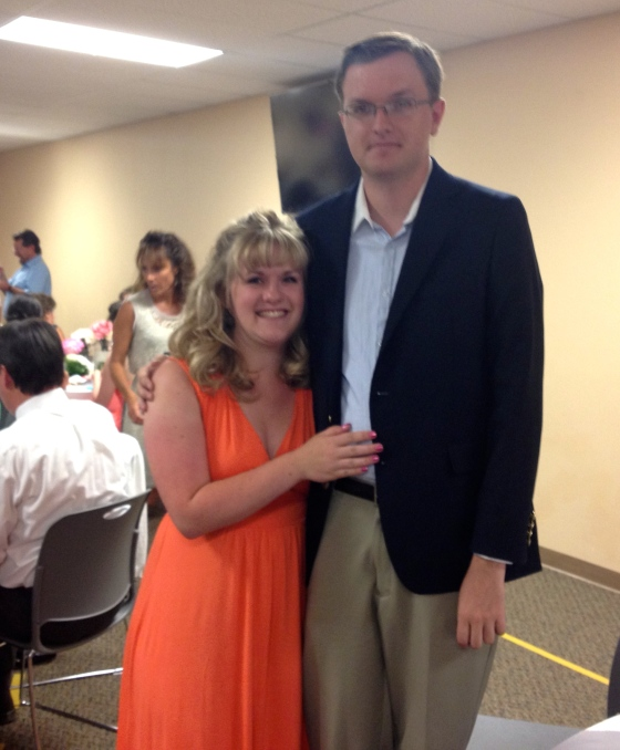 Brandon and I at the wedding