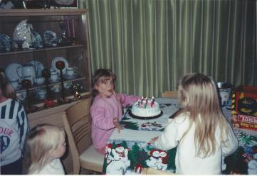 Toddler Taylor On Her Birthday With Cake