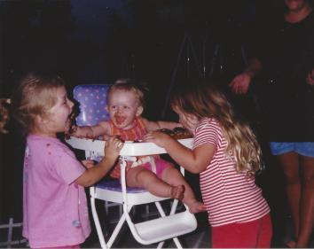 Todder Taylor Eating Her Sister's Birthday Cake