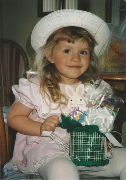 Toddler Taylor Dressed Up For Easter