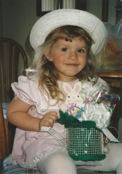 Toddler Taylor Dressed Up For Easter