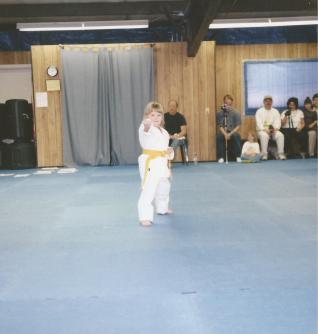Taylor At Karate Class