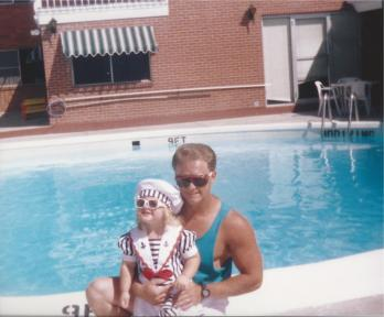 Taylor and Dad At the Pool