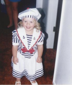 Toddler Taylor Wearing a Sailor Outfit