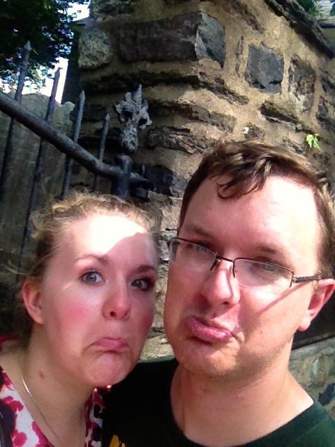 "Our ""we are sweaty and sad"" faces"